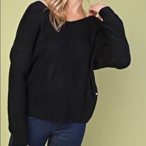 Sweaters - DISCOUNTED Penny Pearl Sweater- Black